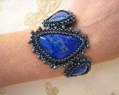 Custom Order Deposit for Stephanie - Lapis Cabochon Bracelet
