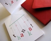 Mobile thank you cards, set of 6