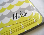 AS SEEN ON DECOR-8 BLOG- Hello- everyday stationery, set of 6