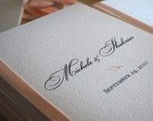 Classic- wedding program, digital file only