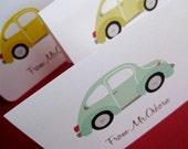 VW bug- set of 12 personalized stationery, custom set