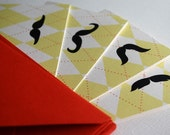 Mustache notecards- set of 8