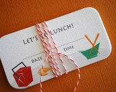 LIMITED- Itty Bitty cards- Lets Do Lunch