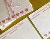 Cupcakes- set of 20 personalized recipe cards. 4 sets