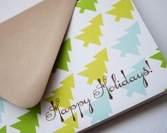 Happy Holidays- tree pattern, single card