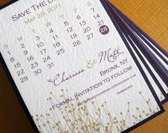 Save the Date- calendar, set of 10