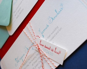 TWINE COLLECTION- How Sweet is Love- invitation