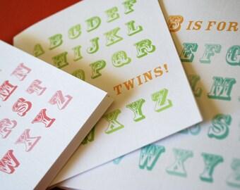 ABC Baby- single baby congratulations card