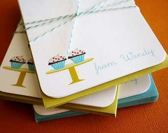 Cupcake- flat personalized cards