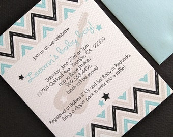 Rock Baby- shower invitation, set of 10