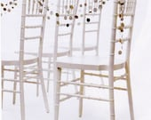 Recycled Hymnal Paper Garland Strand in Color - 10 feet / as seen in Martha Stewart Weddings Spring 2010