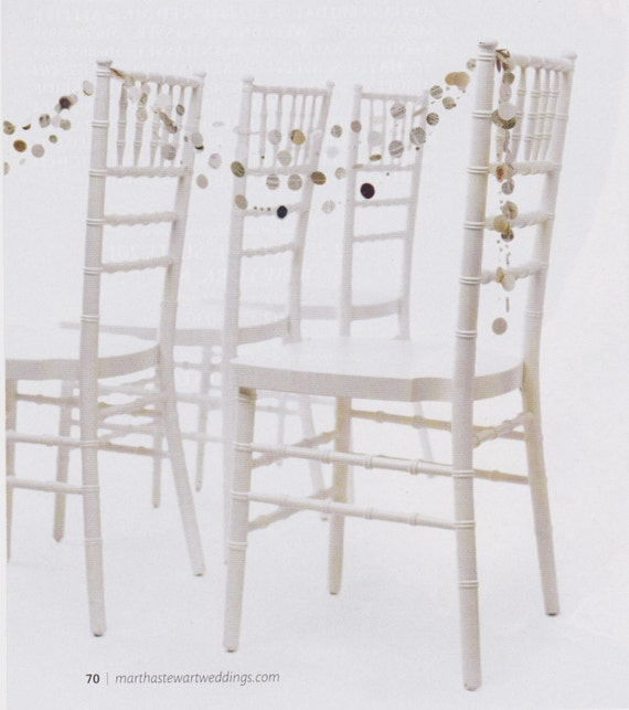 Recycled Hymnal Paper Garland Strand in Color from Martha Stewart Weddings Spring 2010