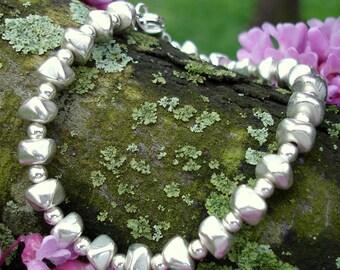 Silver Nuggets Bracelet