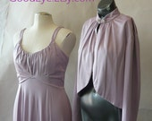 Vintage 2-pc Lavender Maxi Dress Jacket size 10 12 14 Medium Evening  LOVELY LILAC Cocktail 1970s Prom