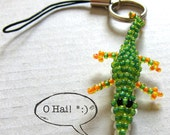 Beaded Crocodile Keychain - Ale