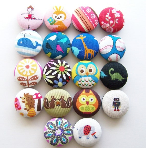 NEW You Pick ONE Fabric Covered Button Stethoscope ID badge tag