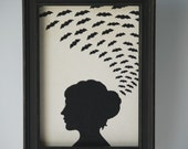 New design - Gypsia, framed silhouette art piece,