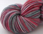Muted Berry Superwash Wool Nylon Sock Yarn