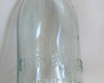 Antique BLOB TOP Bottle (Aqua166)