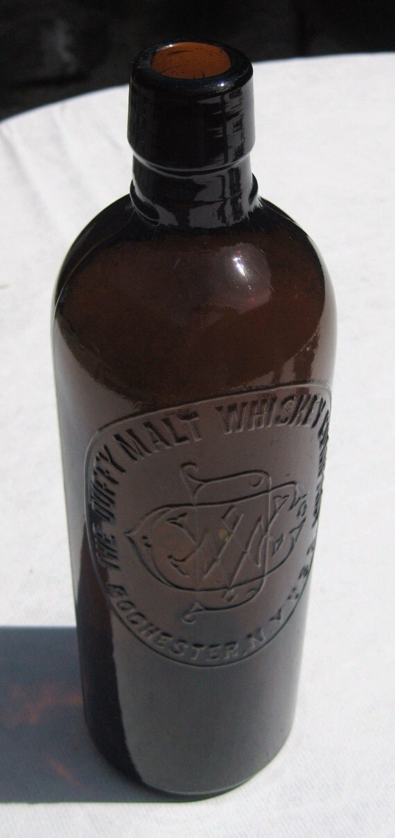 Antique, Amber Colored DUFFY MALT WHISKEY Bottle (Amber35)
