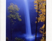 Silver Creek Falls - Set of 4 - Blank - Handmade - Photo Greeting Cards - Note Cards - Autumn - Fall - Oregon - waterfall - Nature