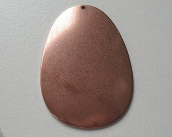 solid copper pendant blank-copper beading supplies-copper blanks-pendant-ONE BLANK