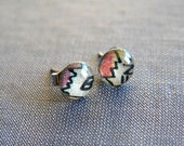 Comics. petite stud earrings