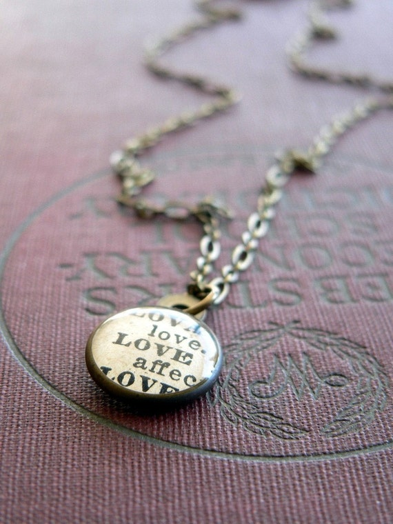 Love. vintage brass and resin necklace