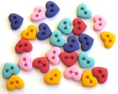 Tiny Heart Buttons