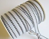 White Stitch Grosgrain