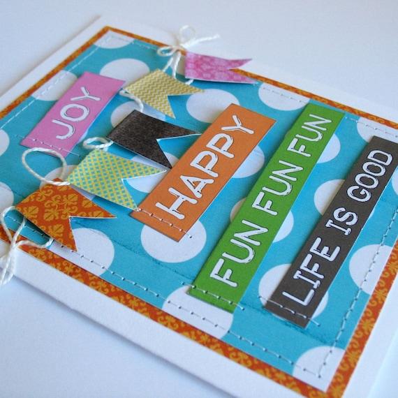 Joy Birthday Card