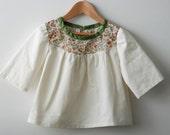 SALE: 40% discount on girls top / blouse / tunic with liberty tana lawn yoke size 3T