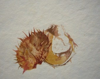 Horse Chestnut Original Watercolor