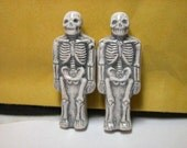 Halloween Skeleton Beads Spooky Pair Ceramic beads