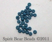 Opaque Slate Blue Czech Seed Beads size 11/0 lot of 20 grams