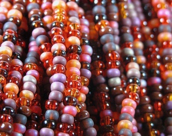 ARIZONA SUNSET Seed Bead Mega Mix  6/0 Czech Glass  Loose Beads