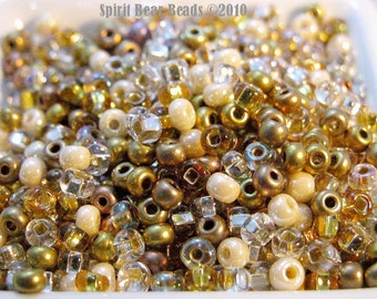 Silver Threads and Golden Needles Bead Mix size 6 Seed Beads D