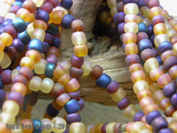 Harvest Glory Seed Bead Mix  6/0 Czech Glass   4mm