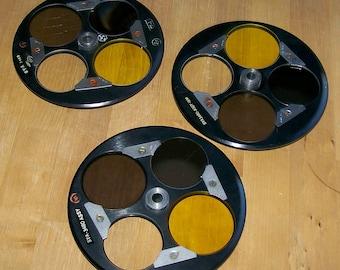 Vintage 3 Lenses Glass Metal Discs IBM Government Surplus Repurpose Re-Use Craft Supplies