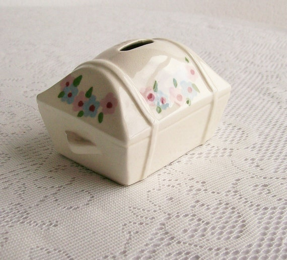 Cleminsons of California Pottery Coin Bank Hope Chest 1950s