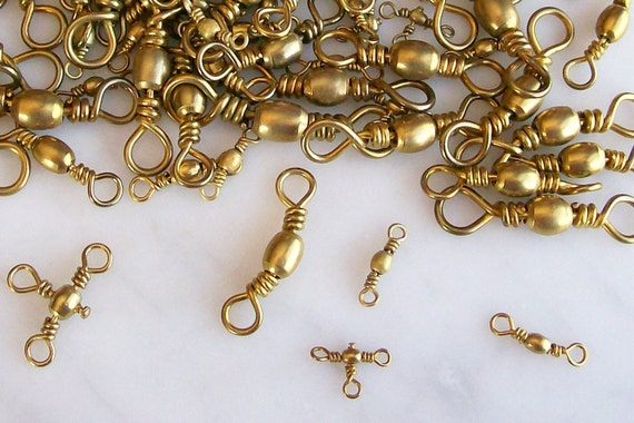 Brass Swivels Connectors Crafting Jewelry Steampunk Supplies