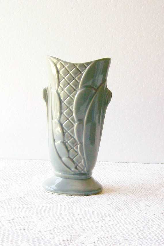RESERVED   Art Deco Vase Gray Shawnee Pottery