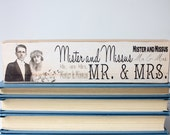 Mr. & Mrs. Wedding Art Block, Subway Sign Original Design