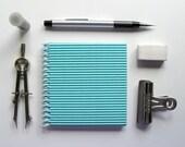 Aquamarine Corrugated Spiral Notebook (4x4)