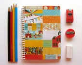 Back to School, Spiral Notebook, A6 Notebook, Writing Journal, Blank Sketchbook, Spiral Bound Journal, White Blank Pages, Pocket Notebook