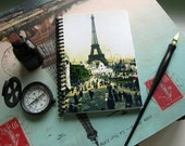Eiffel Tower in the Exposition - Notebook Spiral Bound - 4x6in