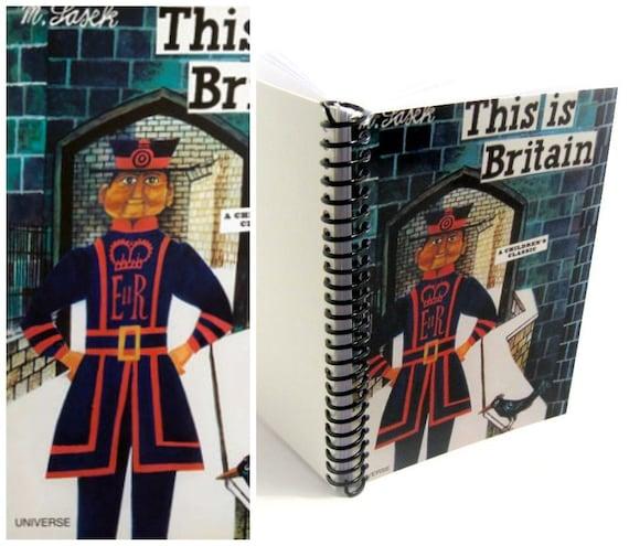 Beefeater Notebook, Travel Journal, 5x7 Inches Notebook, Blank Sketchbook, Spiral Notebook, Back to School, London Journal