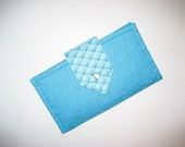 Voluminous Ocean Blue Wallet