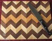 Diagonal cut cutting board.