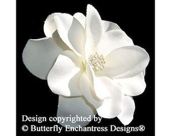 Pearl Ivory Gardenia Bridal Hair Flower Clip